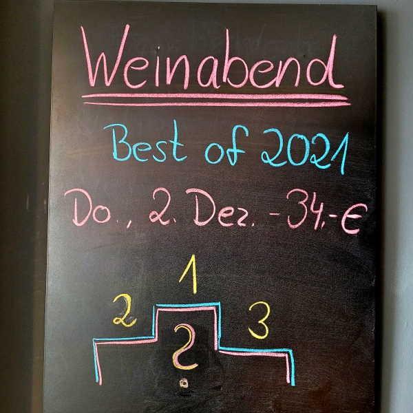 Weinabend - BEST OF 2021 - 02.12.2021