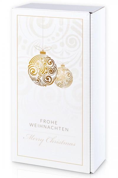 2er Präsentkarton Weihnachten Goldglanz
