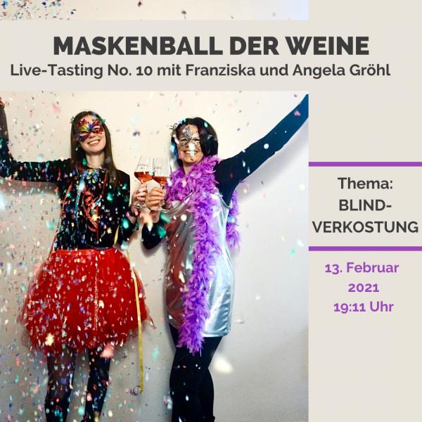 Live-Tasting Online No. 10 - Maskenball der Weine (Blindverkostung)